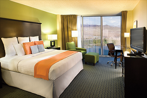 Accommodations at Aquarius Hotel & Casino Resort
